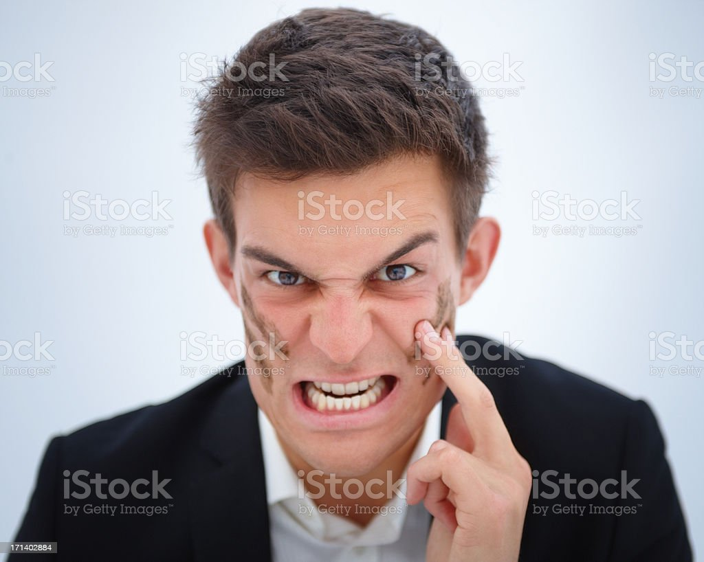 Game on!!!  - Aggressive expression royalty-free stock photo