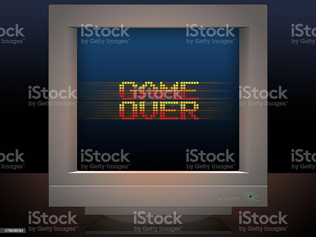 Gra w stylu retro Ilustracja wiadomość wideo gra – zdjęcie