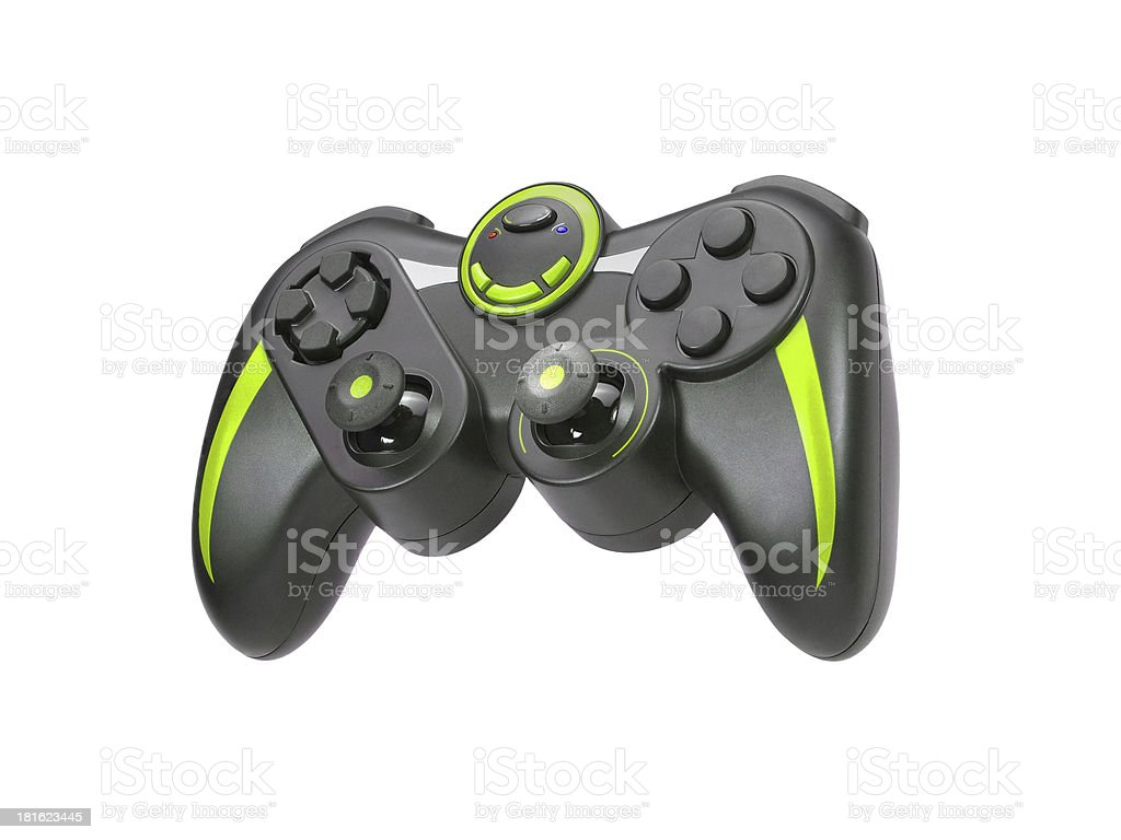 Game pad on white background royalty-free stock photo