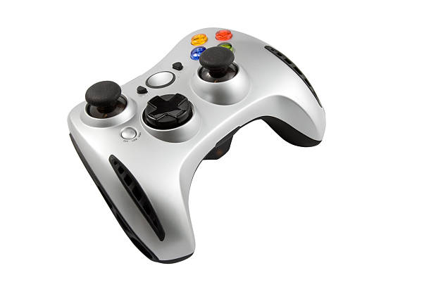 Game pad video game controller Gamepad isolated on white gamepad stock pictures, royalty-free photos & images