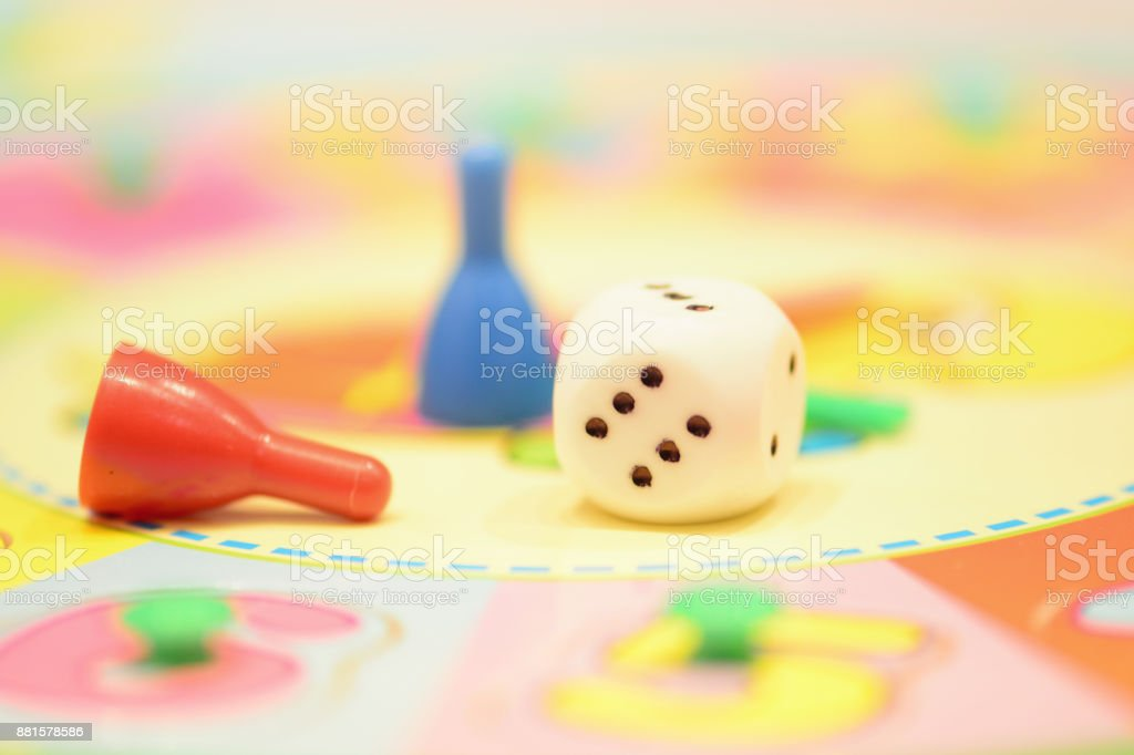 Game pieces stock photo