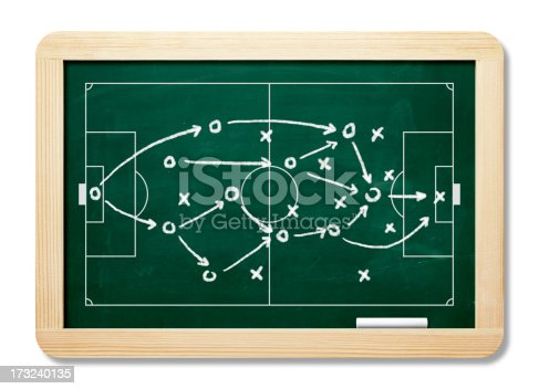 istock Game Plan On Blackboard With Clipping Path 173240135