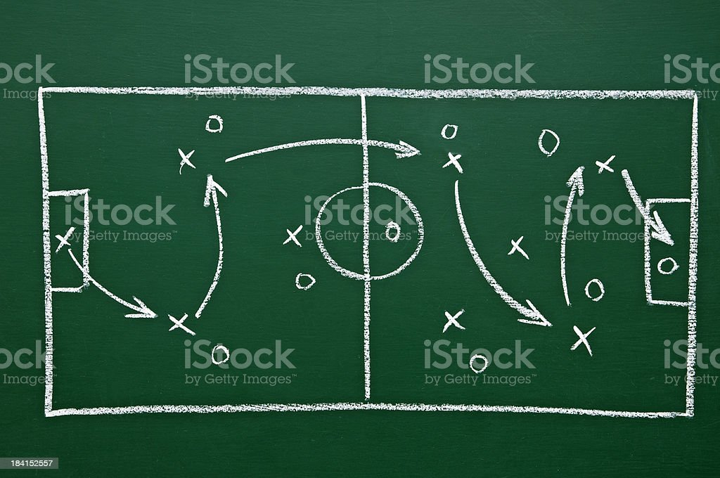 game plan on chalkboard royalty-free stock photo