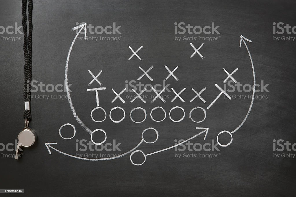 Game plan stock photo
