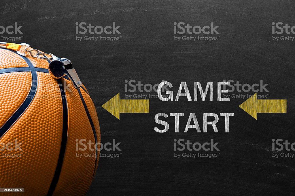 Game start concept with basketball stock photo