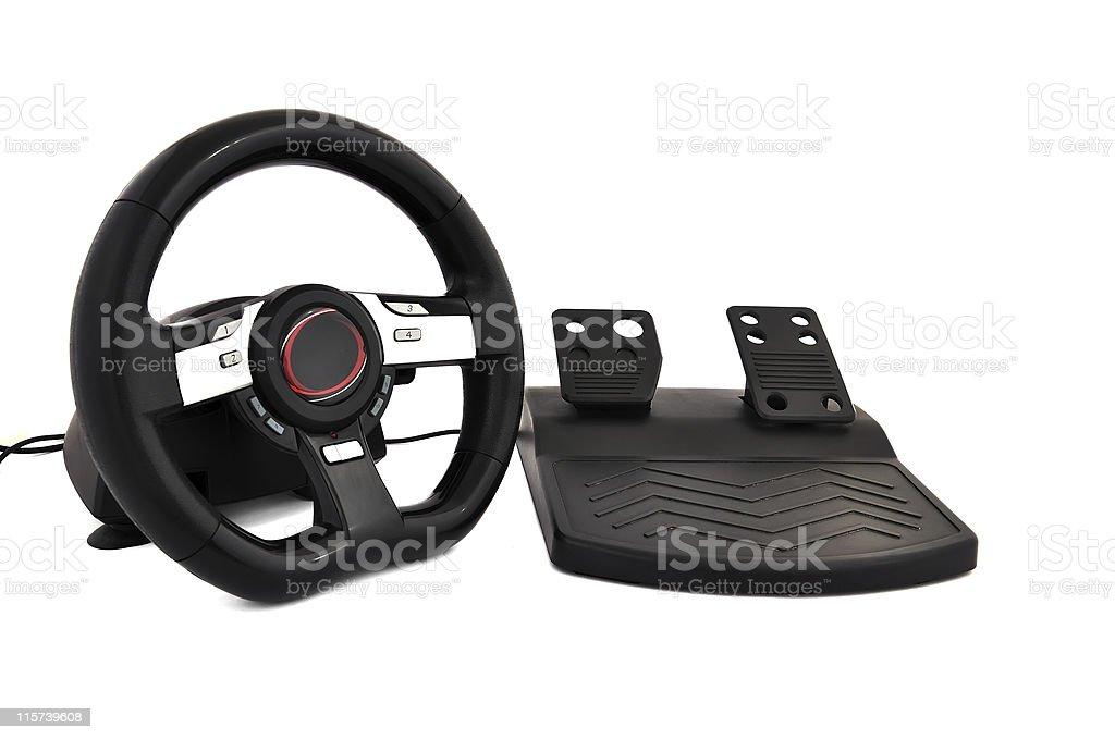 game steering wheel royalty-free stock photo
