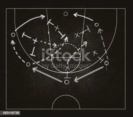 istock Game strategy drawn on blackboard 483448795