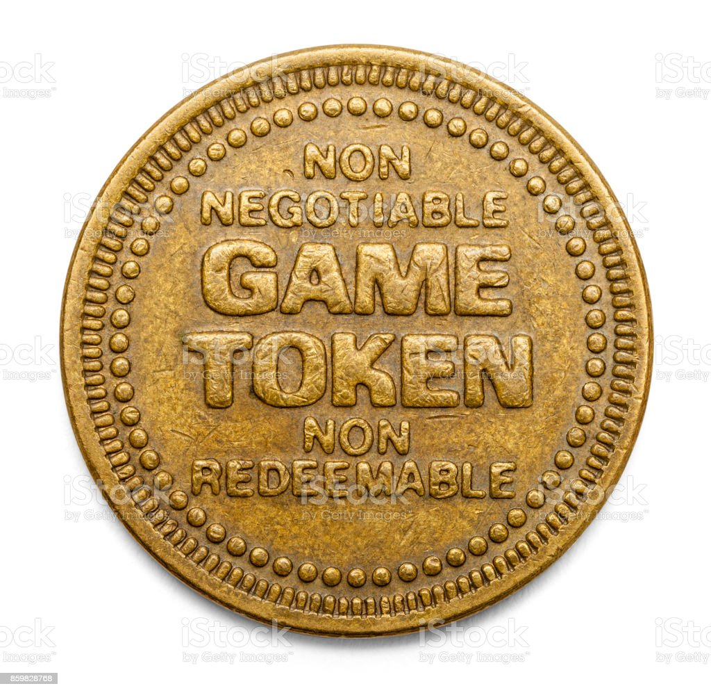 Game Token stock photo