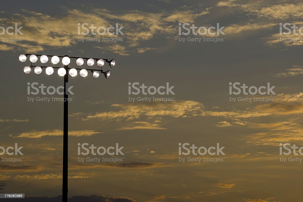 Game Under the Lights 2 royalty-free stock photo