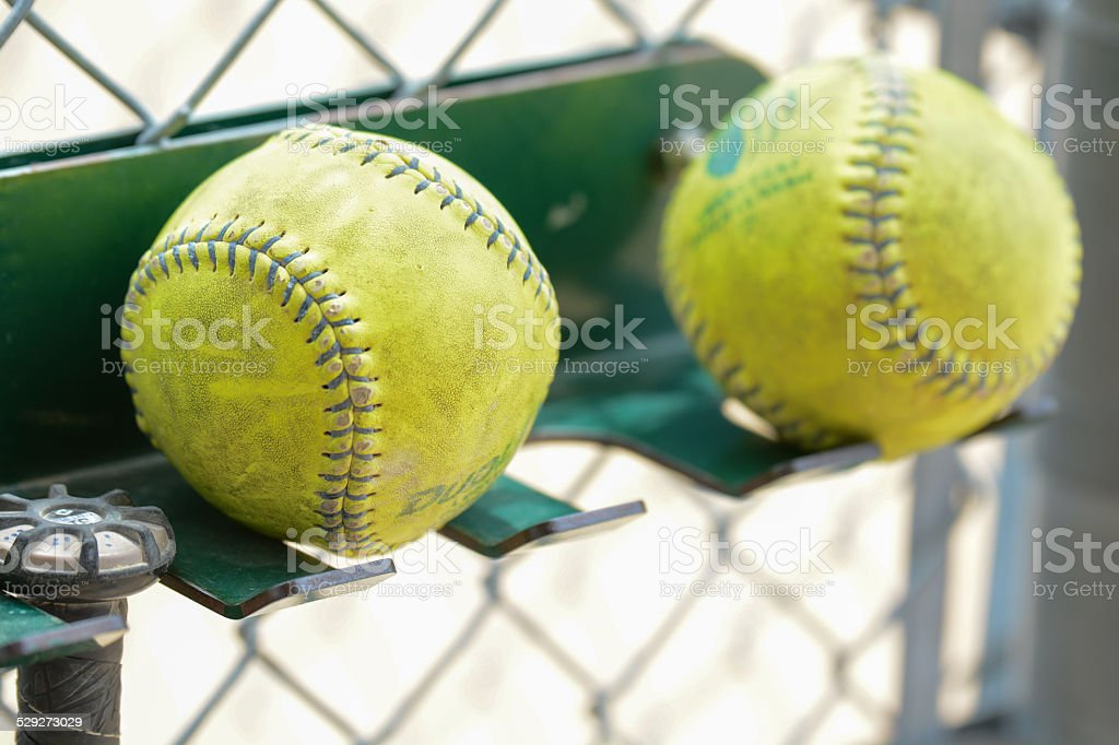 Game Used Softball stock photo