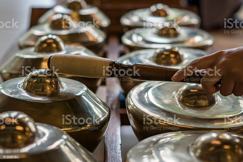 Gamelan, traditional music instruments in Bali and Java, Indonesia stock photo