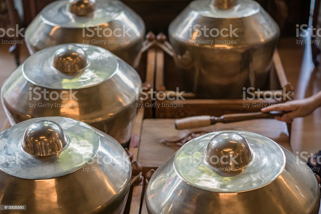 Gamelan, traditional instruments of Java and Bali in Indonesia. stock photo