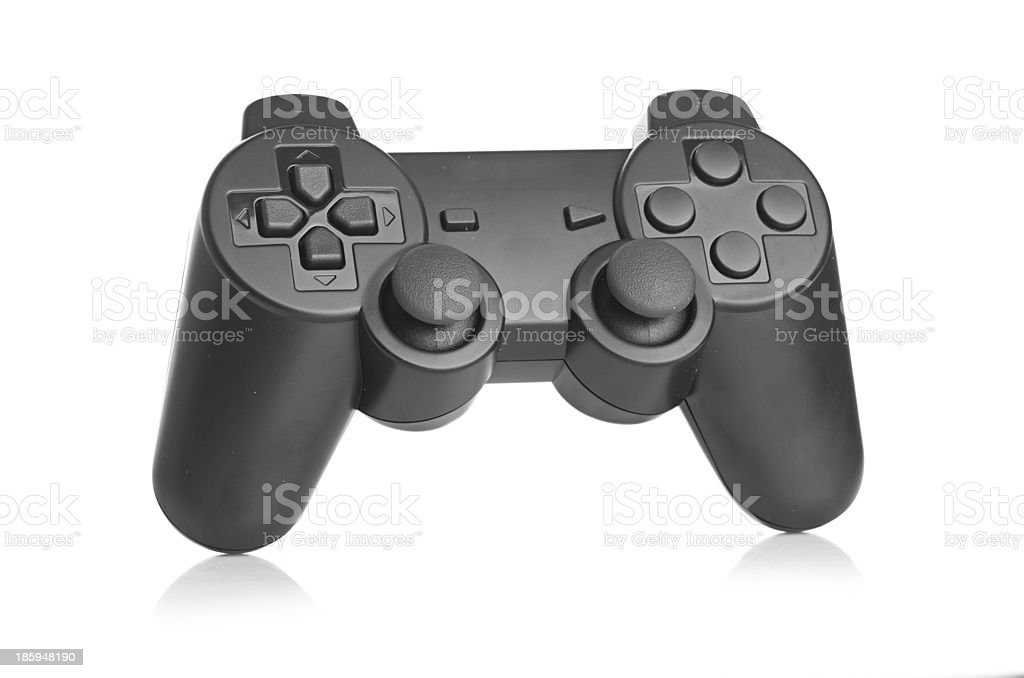 gamepad on white background stock photo