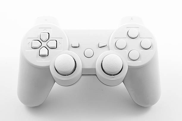 Gamepad White painted gamepad gamepad stock pictures, royalty-free photos & images