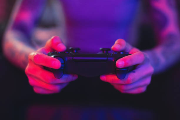Gamer Hands stock photo
