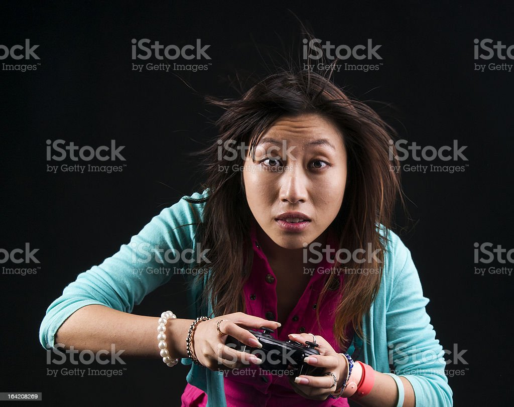 Gamer royalty-free stock photo