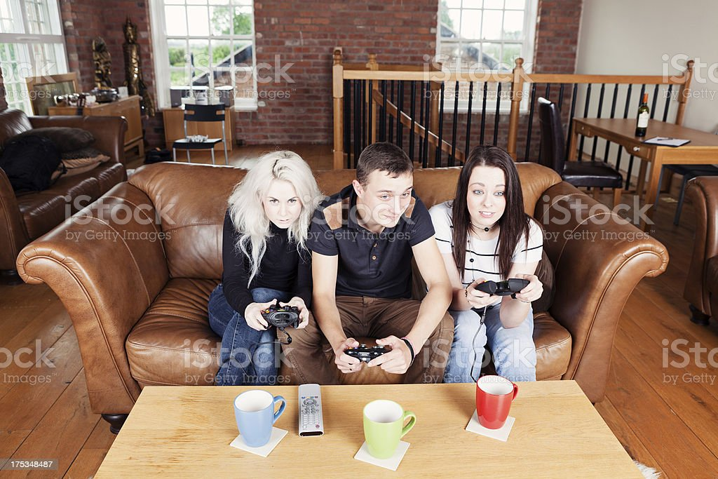 gamers royalty-free stock photo