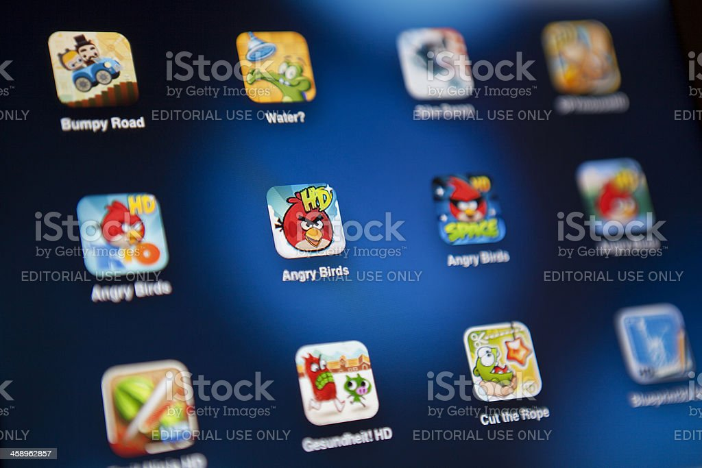 Games app on Ipad 2 royalty-free stock photo