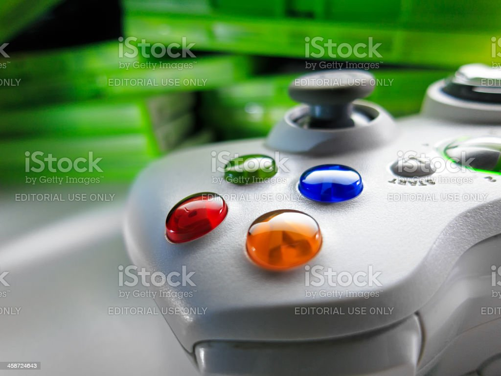 Games Console Controller royalty-free stock photo