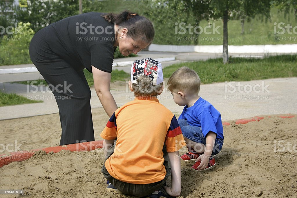 Games in a sandbox royalty-free stock photo