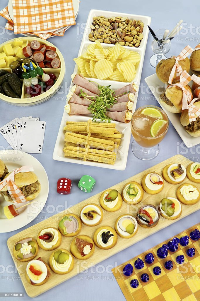 Games Night Food Stock Photo - Download Image Now - iStock