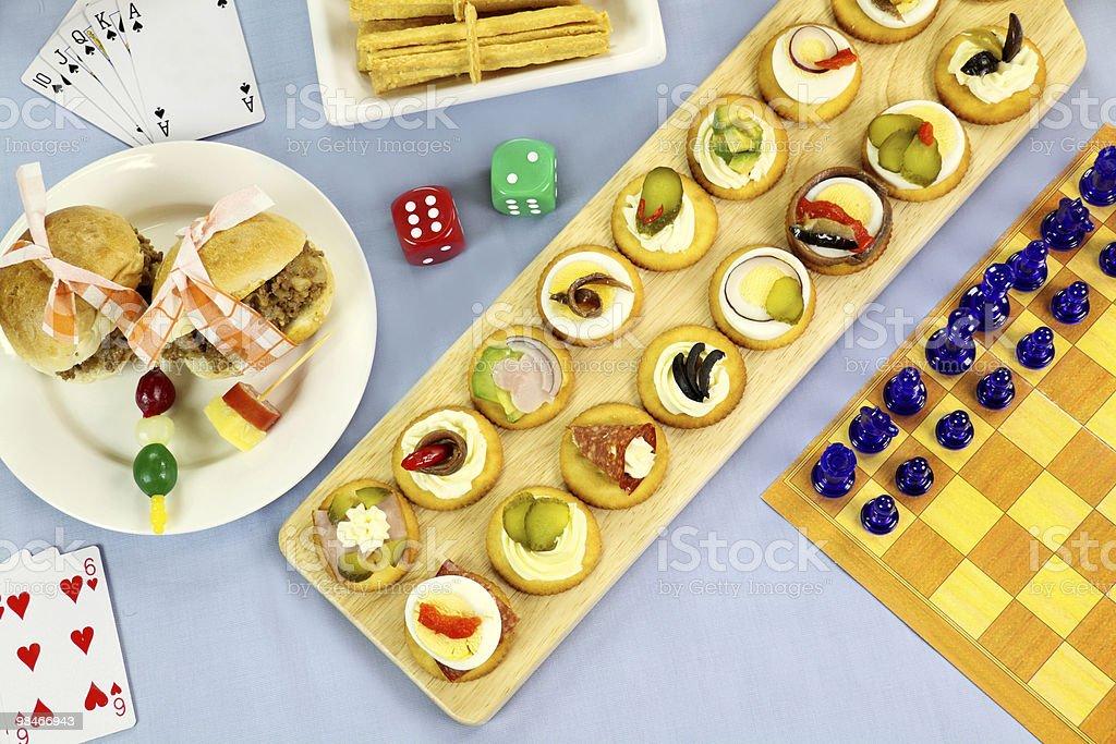 Games Night Food royalty-free stock photo