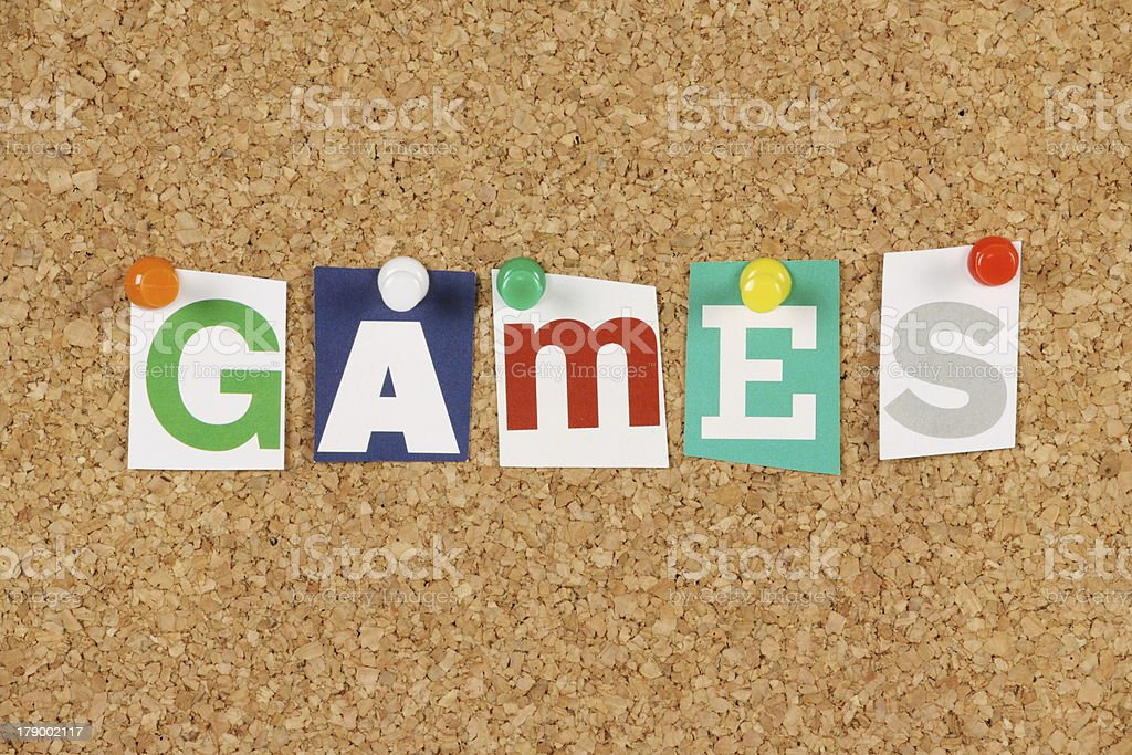 Games royalty-free stock photo