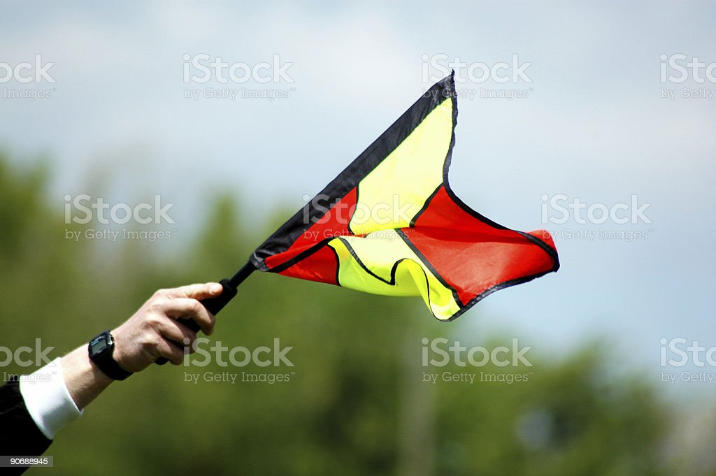 games_soccer flag royalty-free stock photo