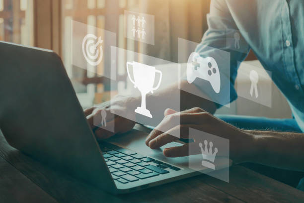 gamification concept in learning stock photo