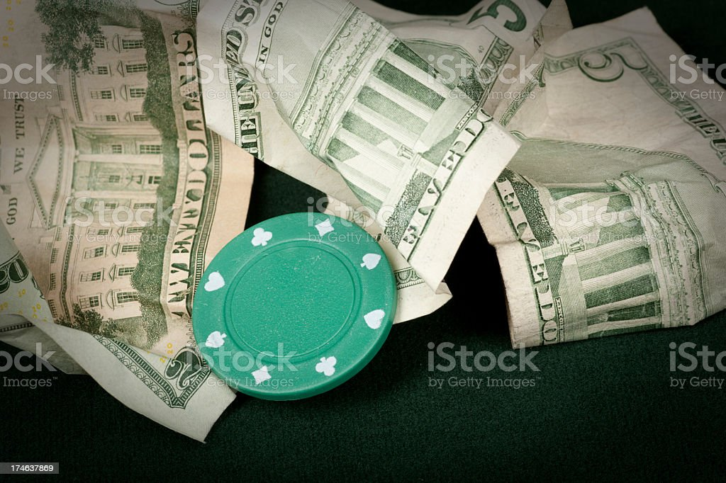 Gaming Chip, Gambling, Money, Losing, Broke royalty-free stock photo