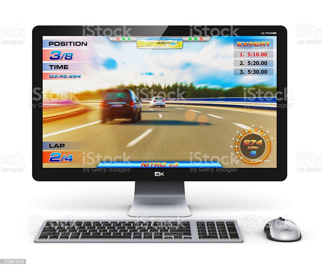 Gaming desktop computer stock photo