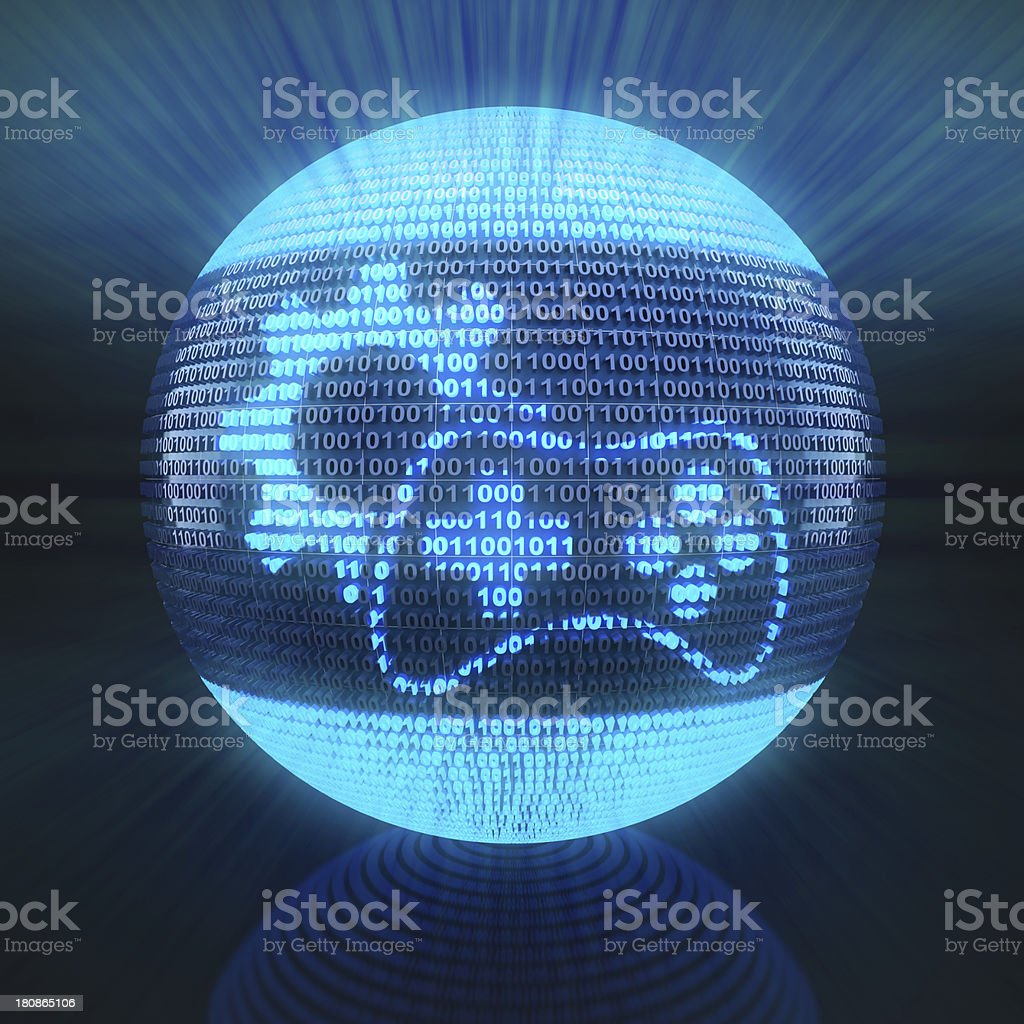 Gaming icon with gear royalty-free stock photo