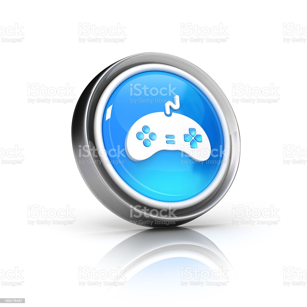 gaming joystick icon royalty-free stock photo