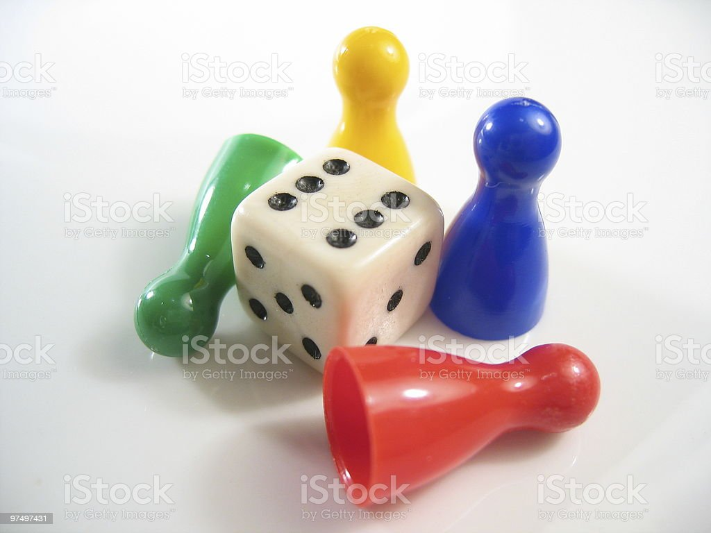 gaming pieces royalty-free stock photo