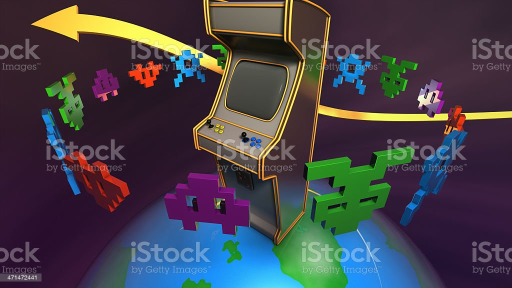 Gaming Planet stock photo
