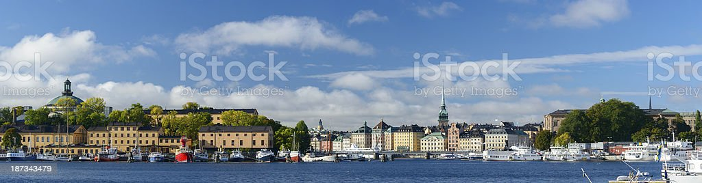 Gamla Stan and Old Town in Stockholm Sweden royalty-free stock photo