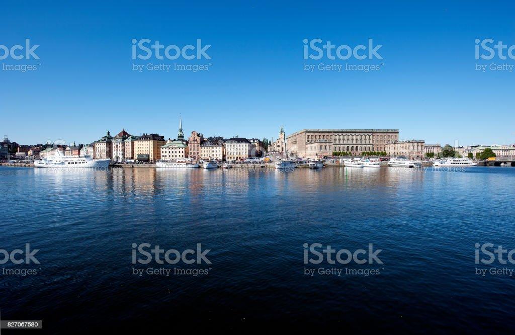 Gamla Stan cityscape, Stockholm, Sweden stock photo
