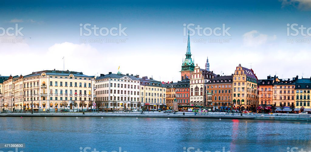 Gamla Stan district in central Stockholm stock photo