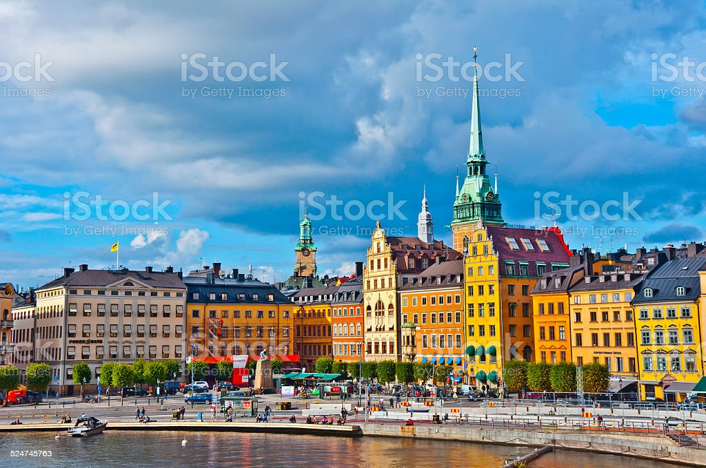 Gamla Stan View, Stockholm, Sweden stock photo