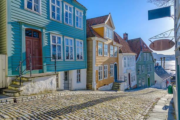 Gamle (old) Bergen Museum in Bergen, Norway stock photo