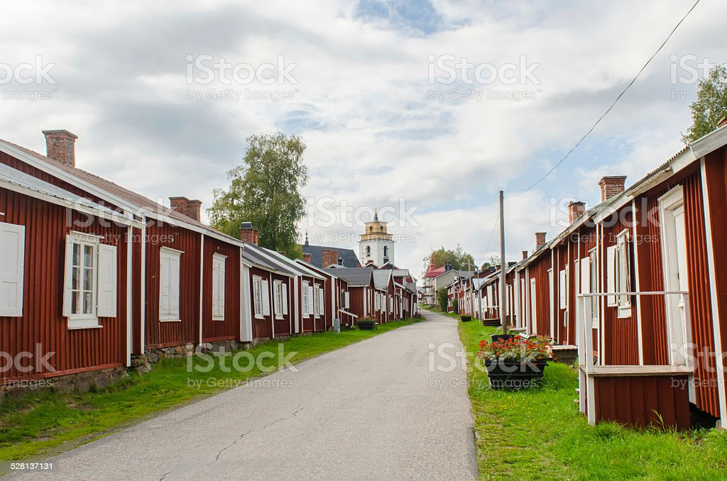 Gammelstad church town in Sweden stock photo