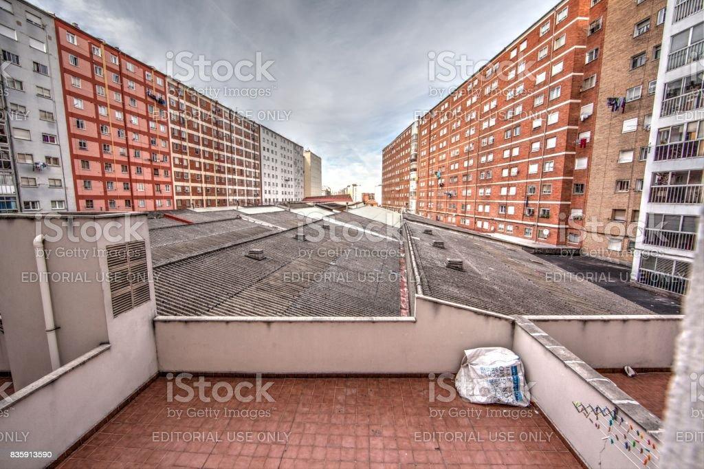 Gamonal apartement complex stock photo