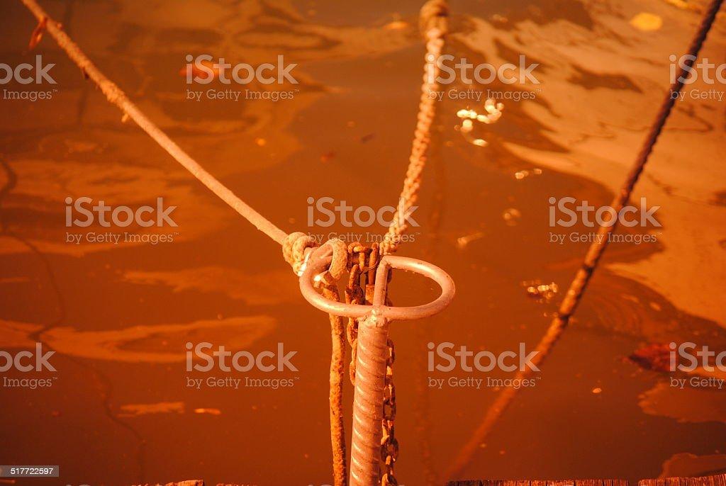Gancio attracco barche stock photo