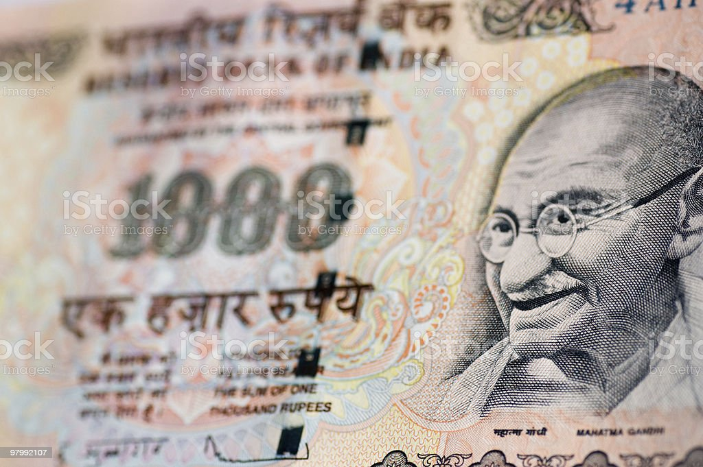 Gandhi banknote from India royalty-free stock photo