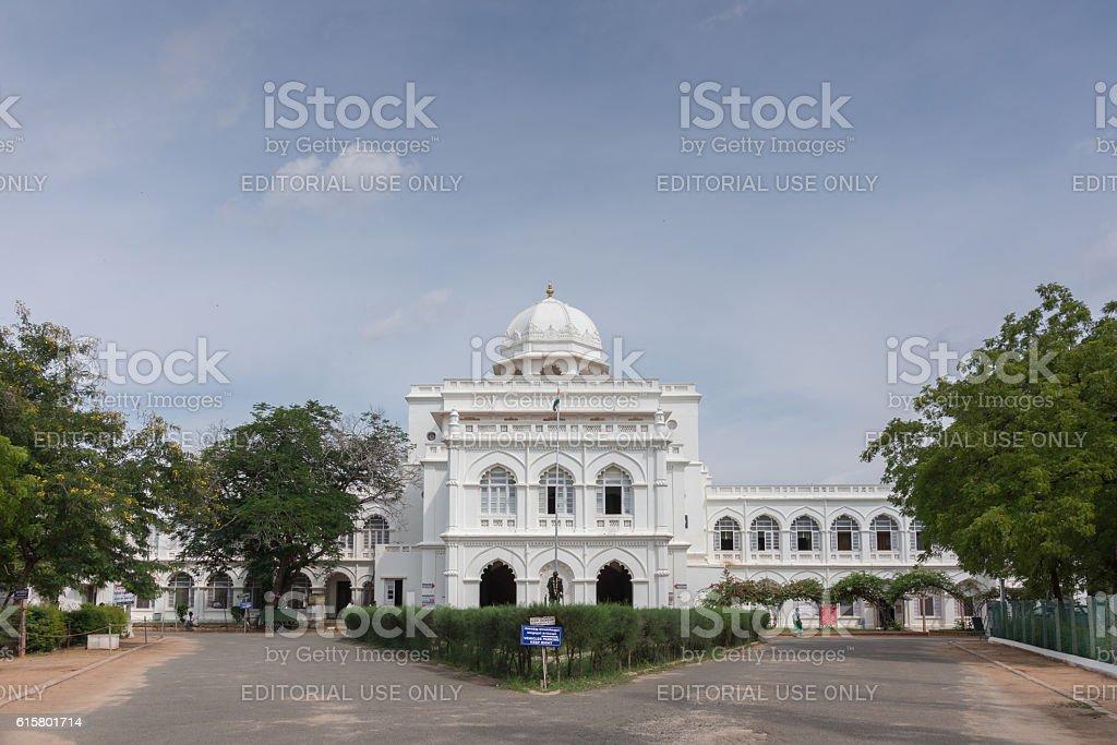 Gandhi museum in historic Nayak Palace. stock photo