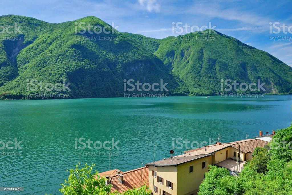 Gandria,Lake Lugano,Ticino canton,Switzerland royalty-free stock photo
