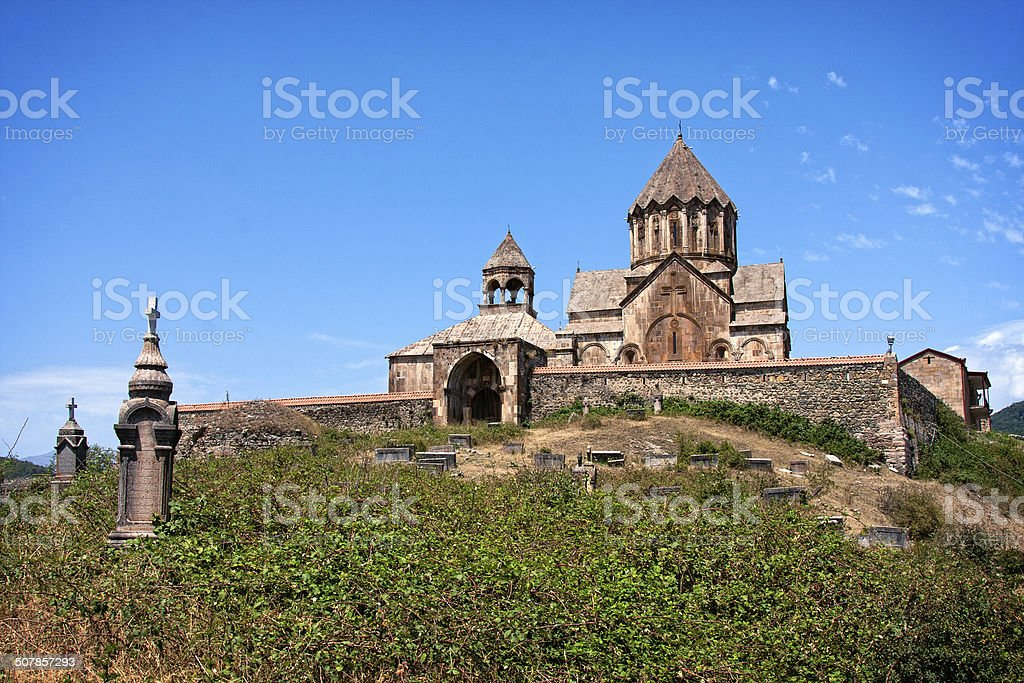 Gandzasar Monastic Complex stock photo