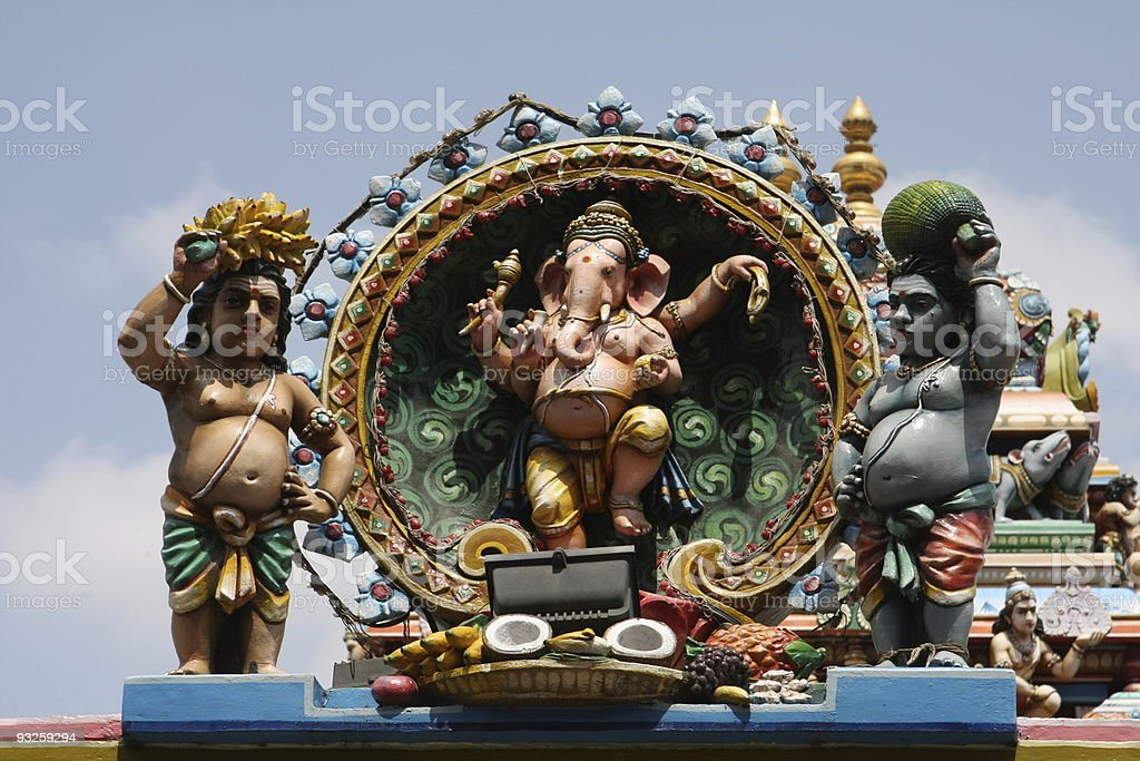 Ganesh sculpture at temple in Chennai stock photo