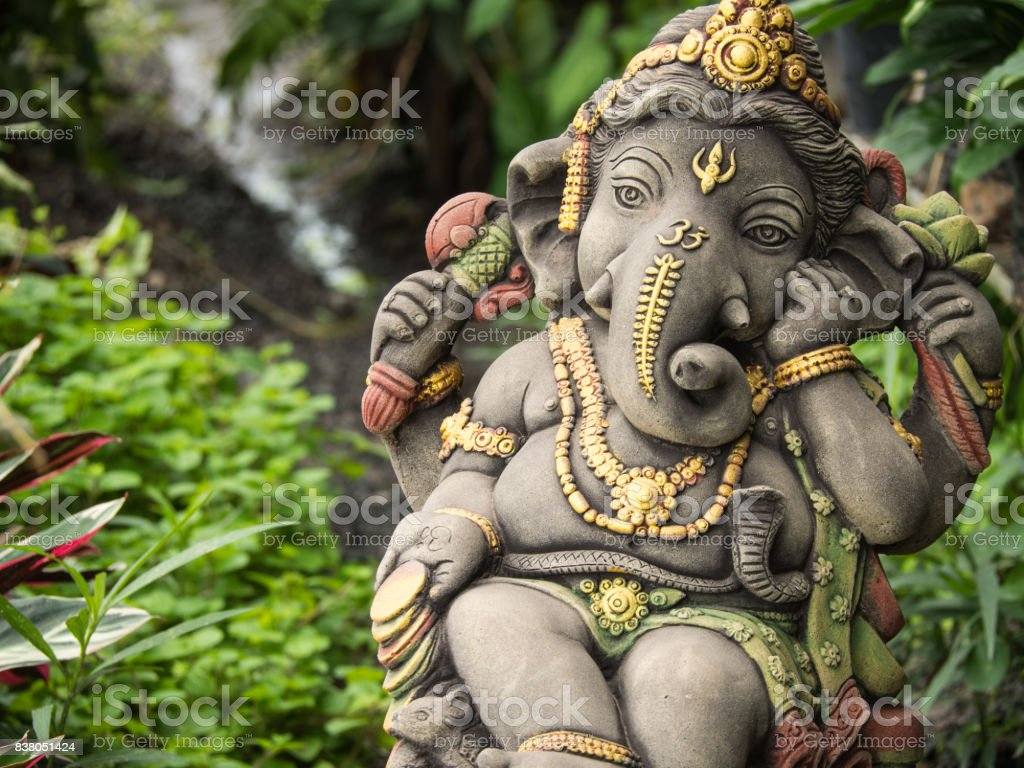 Ganesh Statue God of Immortality stock photo