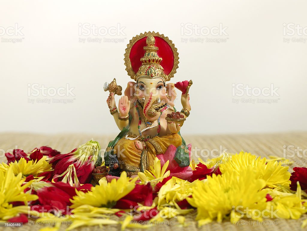 Ganesh statuette stock photo